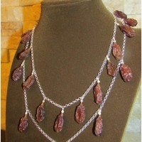 Grape silver Necklace