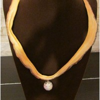 Pumpkin Necklace with Pearl