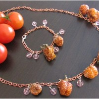 Necklace and bracelet of Tomatoes