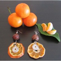 Earrings mandarins